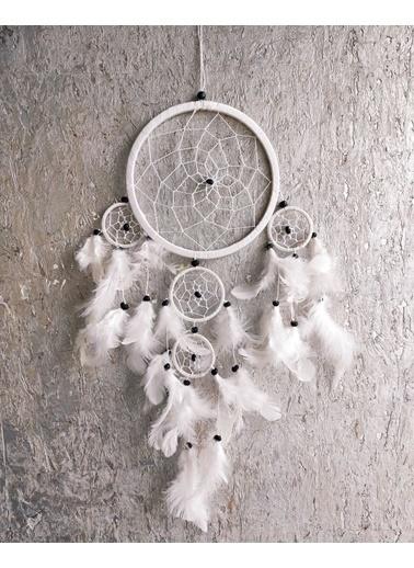 Arte Casero Düş kapanı, Rüya kapanı, Dream Catcher 17cm Beyaz Beyaz